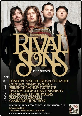 Rival Sons - UK tour dates Spring 2013